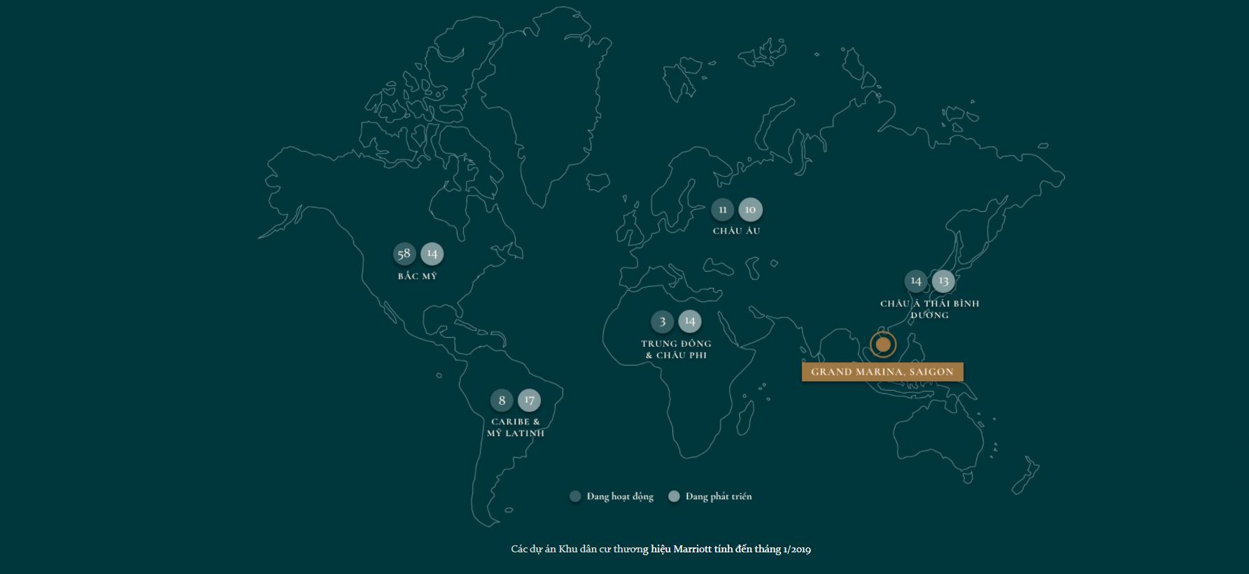 Hệ thống thương hiệu khách sạn Marriott trên toàn thế giới