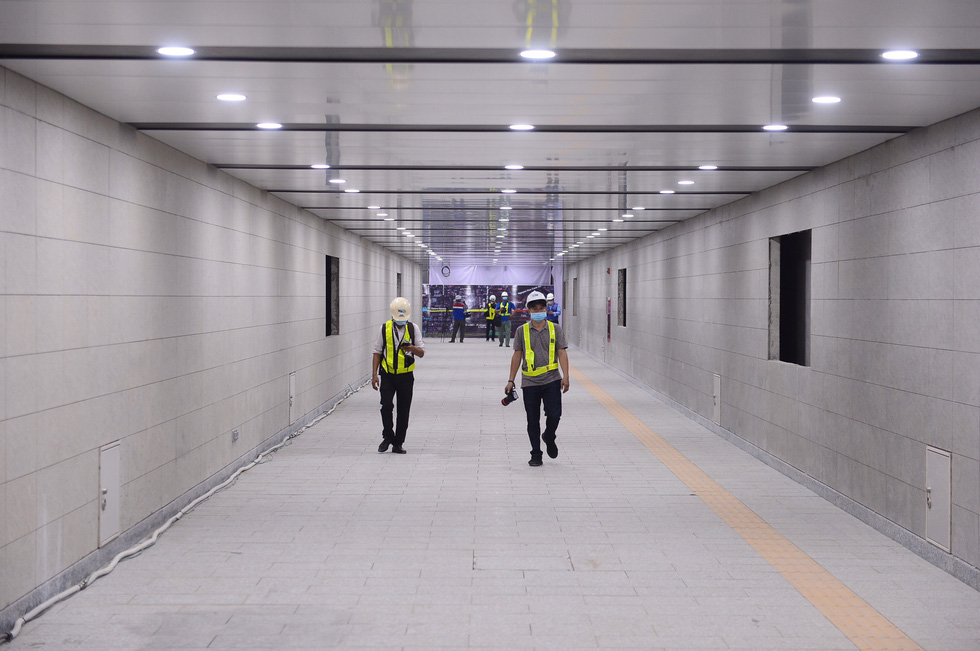Chủ đầu tư cho biết tầng B1 ga Ba Son hoàn thành sớm hơn 31 ngày so với kế hoạch