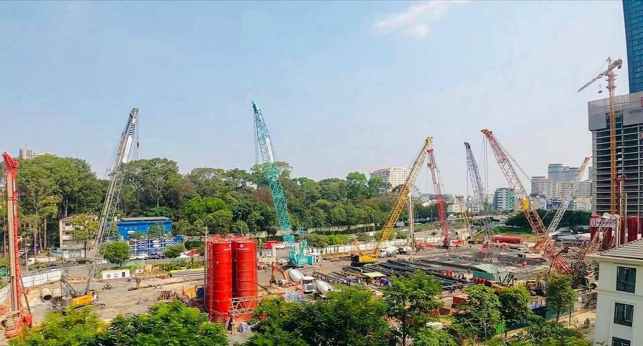 Grand Marina Saigon đang trong quá trình thi công móng cọc