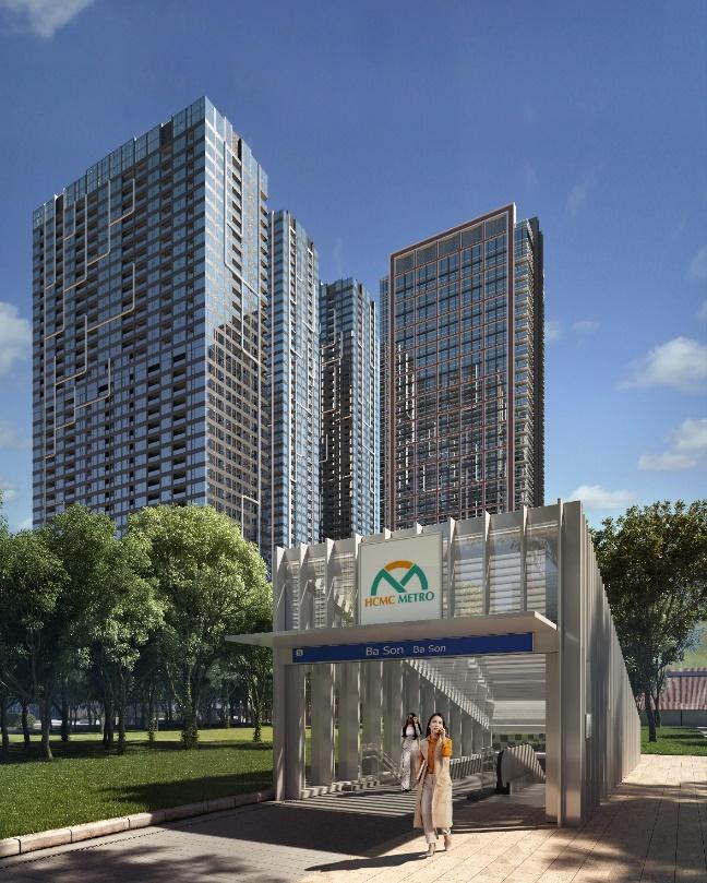 Trạm metro Ba Son sẽ nằm trong khu vực 10 hecta của Grand Marina Saigon.