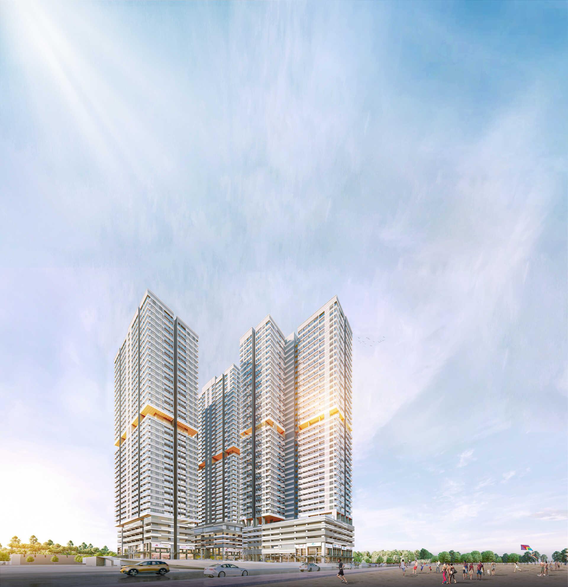 Phối cảnh dự án căn hộ Takashi Ocean Suite Kỳ Co Quy Nhơn Bình Định